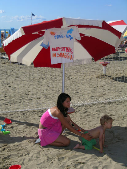 baby sittering spiaggia caorle